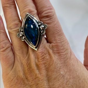 NEW Bold Blue Labradorite 925 Sterling Silver Ring